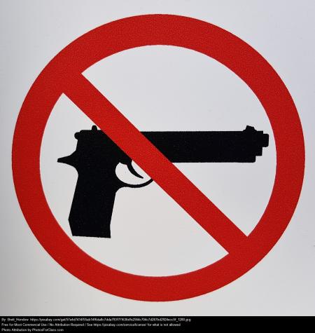 Ban handguns symbol