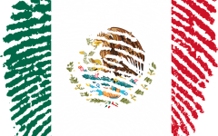 Thumbprint as Mexican flag