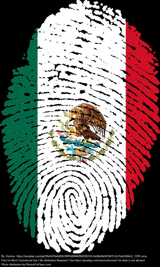 Thumbprint as Mexican flag
