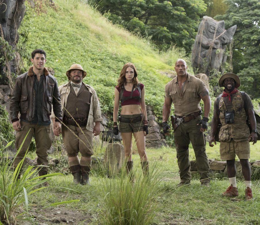 Jumanji+cast+in+jungle