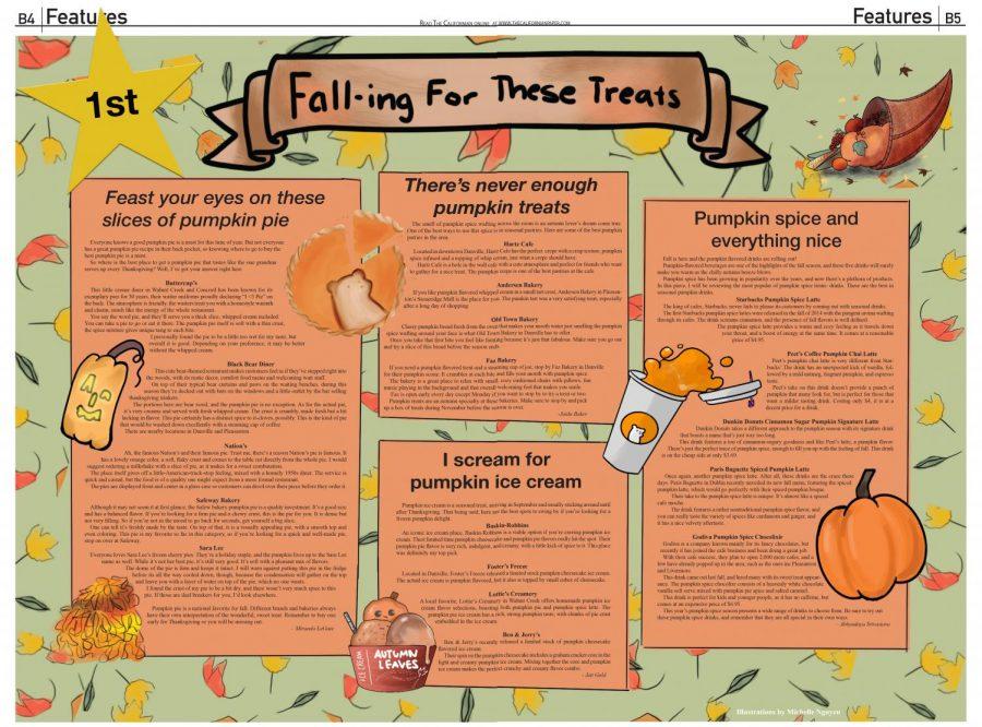 First place newspaper design, fall treats