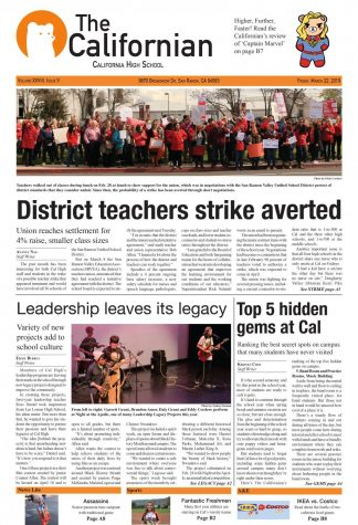 March front page, Californian