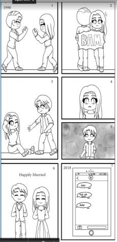Editorial cartoon on teen romance
