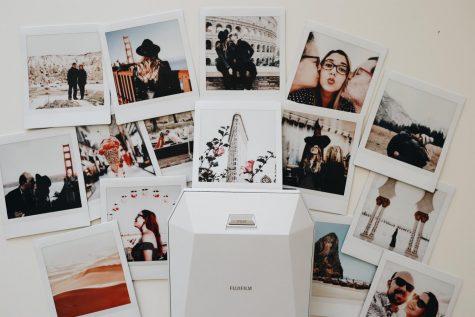 Teens in Polaroid photo collage