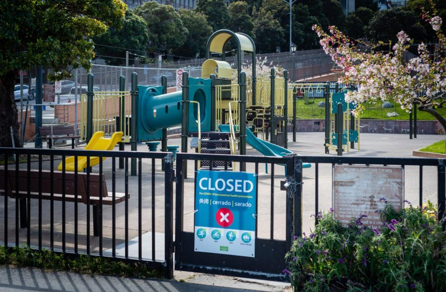 Closed playground