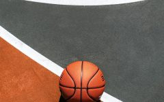 basketball by itself on court