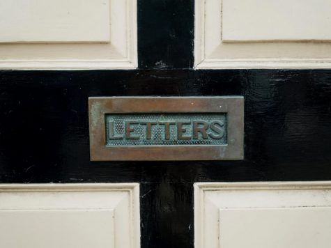 letter box in wall