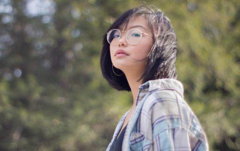Portrait of girl outside