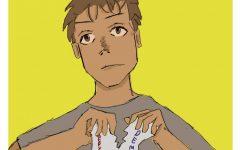 Cartoon of male tearing up ballot