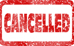 Cancelled stamp in red