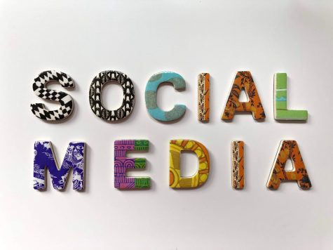 "Mixed media sign ""Social Mediia"""
