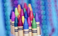 Closeup of crayons