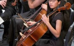 National merit winner playing cello