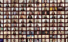 Zoom montage of choir members performing