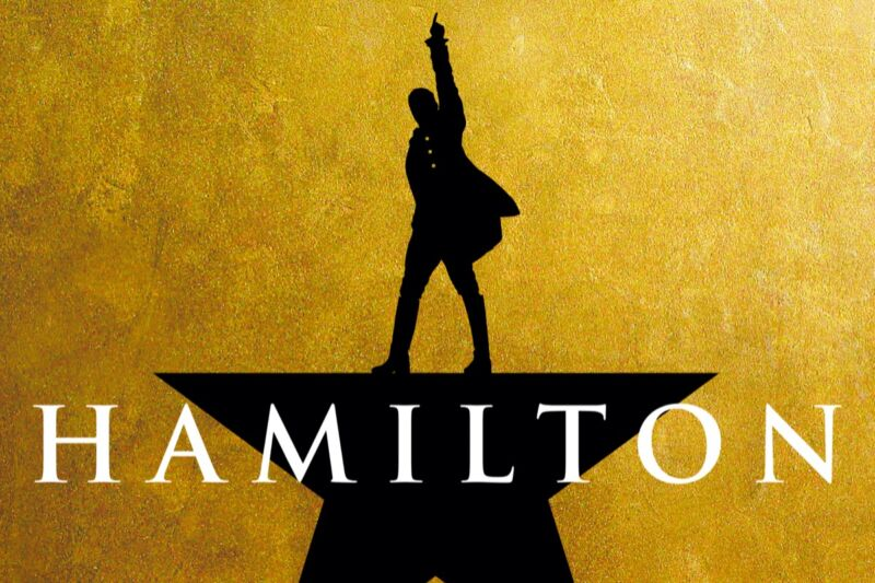Poster from Hamilton the musical