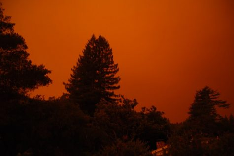 Red sky from California fires