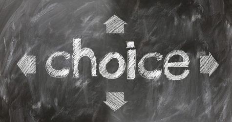 """""""choice"""" written in chalk on dark background"""