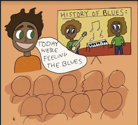 Cartoon of Black students in African American studies course