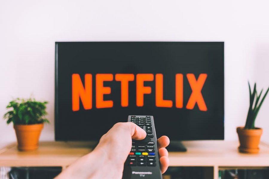 Computer screen with Netflix logo