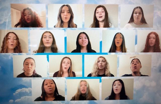 Zoom screen shot of choir