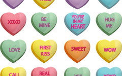 The origins of Valentine conversation heart candy dates back to 1847.