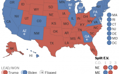 Electoral college map for 2020 election