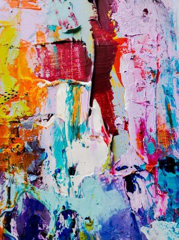 Paint splash art