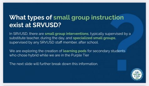 Graphic listing small group instruction