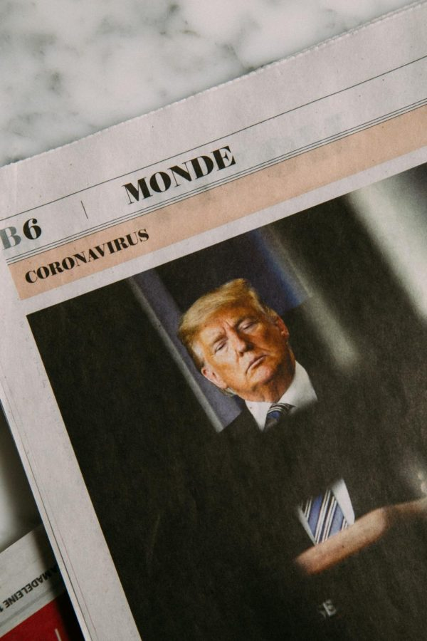 Front page of French newspaper with photo of Donald Trump