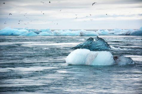 Melting glacier in Iceland