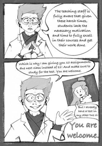 Editorial cartoon on academic pressure