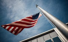 American flag from low aNGLE
