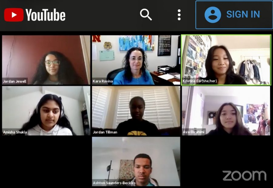 Zoom panel screen capture of 12 students