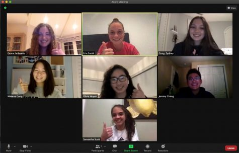 Members of Miramonte's Women in Leadership Club on a recent Zoom call.