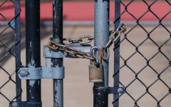 School gates locked.