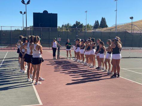 Girls tennis pregame lineup